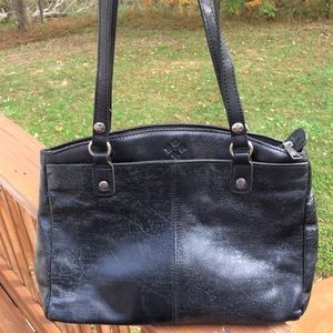 Patricia Nash Black Leather Purse Crossbody Bag